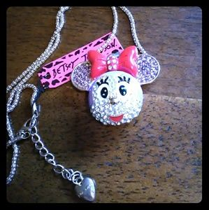 Betsey Johnson Purple Minnie Mouse Necklace